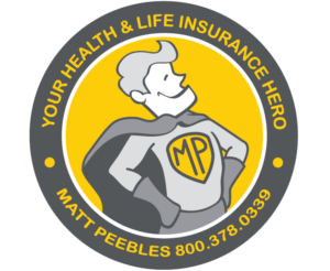 Health and life insurance superhero logo