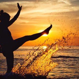 A person enjoying healthy travel