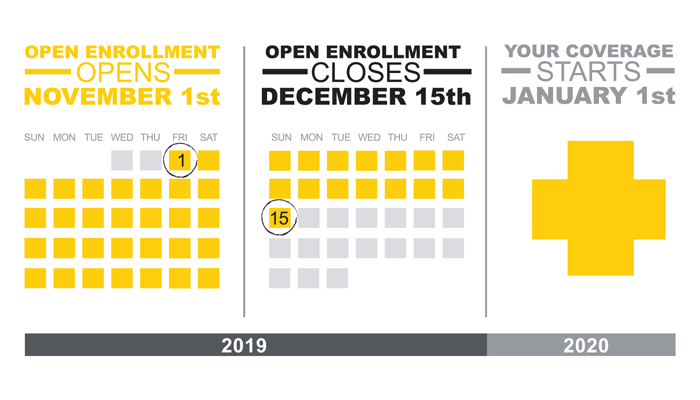 Open Enrollment 2020 Calendar