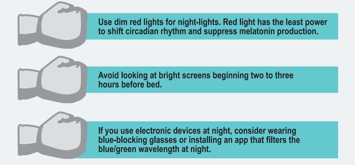 Tips for minimizing blue light exposure